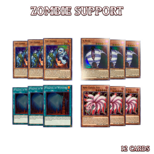 ZOMBIE SUPPORT DECK 12UNI-ZOMBIE IL BLUD NINE-TAILED PYRAMIDSESL YuGiOh