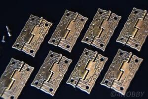 Schatulle Schatztruhe Diy 8 Antik-scharniere Für Schmuckkästchen 36mm Alt Antik Restaurierungsbedarf