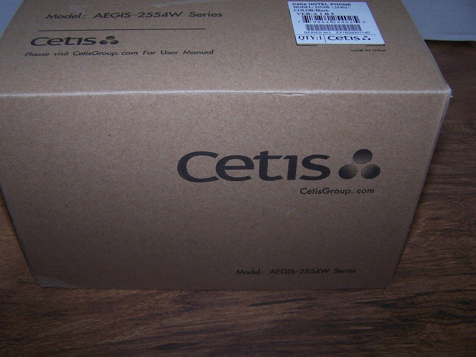 NEW Cetis Black Single Line Corded Hotel Wall Phone 2554W AEGIS-2554W 25402