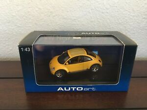 Details about 1:43 AutoArt Volkswagen VW New Beetle Dune Buggy Off-road  Yellow O Scale 59711