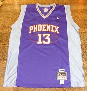 best service 7aea6 8a455 Details about Steve Nash Mitchell & Ness Jersey Size 56 Sewn Letters  Phoenix Suns