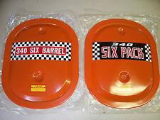 MOPAR , DODGE , PLYMOUTH , 340  N.O.S.  ORIGINAL  SIX - PACK  AIR  CLEANER  LID.