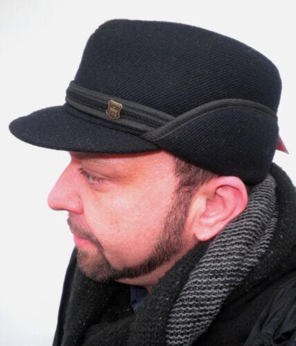 Hommes Casquette Oreilles Rabats Hiver Capuchon Cap Visière Messieurs Bonnets herrenhüte