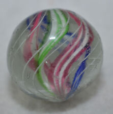 "Antique German handmade 4 color Divided Core swirl Marble 7/8"" lot MAR 306"