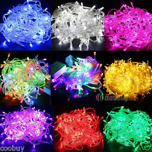 100-200-300-400-600-LED-Fairy-Lights-Christmas-Indoor-Outdoor-String-Lighting