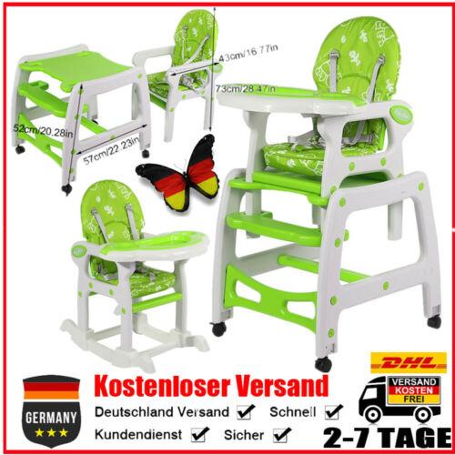 Baby Kinderstuhl Hochstuhl Babystuhl Esstisch Klappbar 3 Sitzpositionen Grün GP1