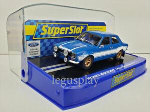 Slot-SCX-Scalextric-Superslot-H3592-Ford-Escort-MK1-Blue-White