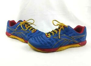 14168a08 Details about Mens Reebok Crossfit Nano 4.0 CF74 Sz 11.5 Training Shoes  Blue Yellow Red