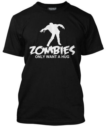 Zombies voulez seulement une accolade-Zombie Marche Halloween loose fit t-shirt