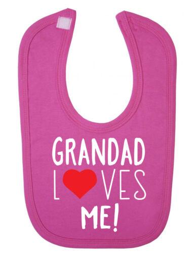 Grandad Loves Me Cute Newborn Toddler Baby Bib Cute Newborn Toddler Baby Bib