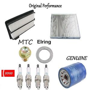 Tune Up Kit Air Oil Filters Plugs for Honda Civic Si; 2.0L 2008
