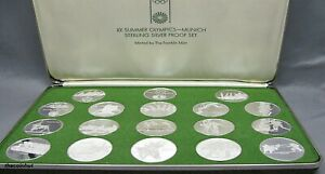 999-Silver-Proof-1972-XX-Summer-Olympics-Munich-Commemorative-Medals-CH5151