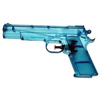 2x Wasserpistole Wasser-Pistole Spritzpistole Kanone Transparent Klassiker 20 cm