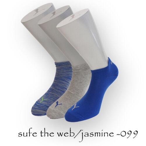 "3 Paia Puma sneakersocken /""Invisible/"" estate POLARZIP calze soft rifiniture"