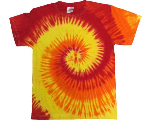 Set of 30 Red Orange Gold Tie Dye T-Shirts Adult S - 5XL 100% Cotton Gildan