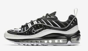 new arrival 00087 16dda Details about Nike Air Max 98 GS # BV4872 001 Black White Silver Big Kids  SZ 3.5 - 7