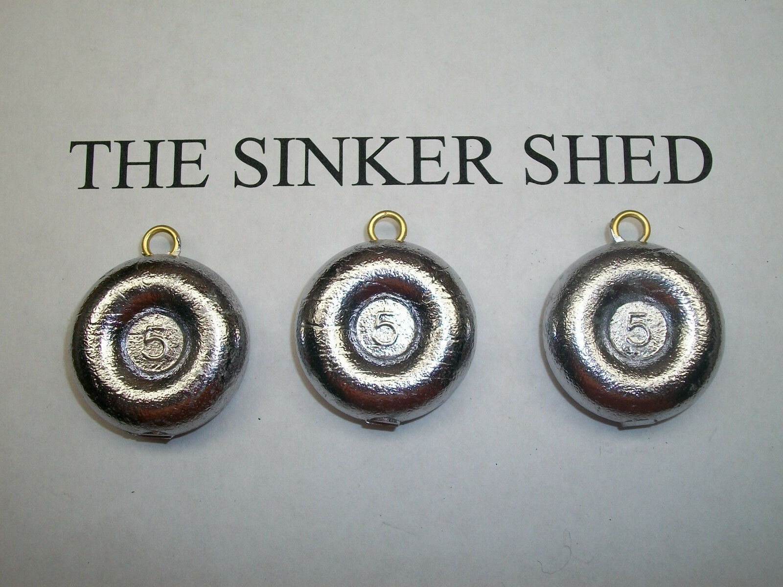 5  oz river coin sinkers   decoy weight - quantity of 6 12 25 50 100 FREE SHIPPIN  low prices