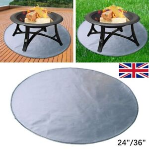 Uk Fireproof Mat Fire Pit Mat Fire Pad Deck Protector Cover For Deck 24 36 Ebay