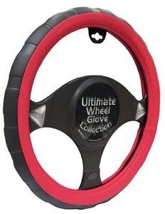 IndéPendant Honda Aerodeck Noir/rouge Sports Grip 37-39 Cm Steering Cover-afficher Le Titre D'origine Avec Les éQuipements Et Les Techniques Les Plus Modernes