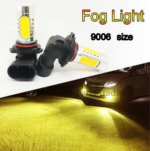 Image Is Loading 2x High Bright 9006 HB4 LED Yellow Orange