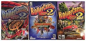 Roller Coaster Tycoon 2 + Time Twister + Wacky Worlds PC