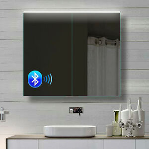 Toll Das Bild Wird Geladen Alu Badezimmer Spiegelschrank LED Und Bluetooth  Lautsprecher 82x70cm