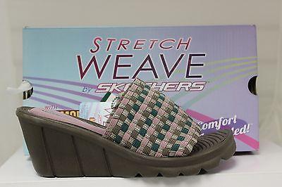 Skechers Promenade Shopper Stretch Weave 38398 Tplv Taupe Lavender Memory Foam Ebay