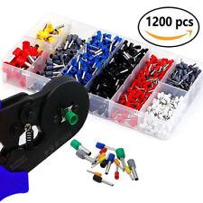 New Listingferrule Crimping Tool Set Crimper Plier 1200 Pcs Wire Ferrules Hand Tools Kits