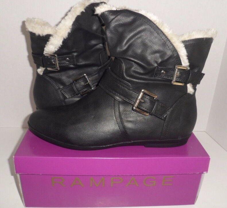 Rampage Bodana SZ 11M Synthetic Black Winter Boot W Faux Fur NEW in Box