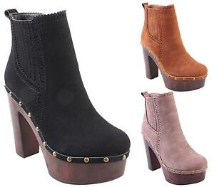 NEW-WOMENS-LADIES-CHUNKY-BLOCK-HEEL-PLATFORM-CHELSEA-ANKLE-BOOTS-SHOES-SIZE-3-8