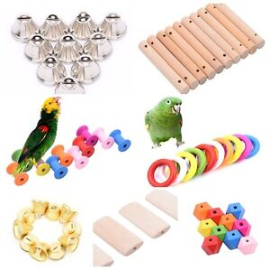 Details About 10pcs Parrot Bird Toys Diy Accessory Toy Parts Cage Perch Swing Making Craft Lot