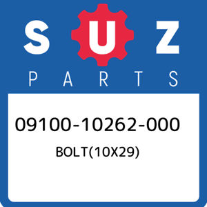 09100-10262-000-Suzuki-Bolt-10x29-0910010262000-New-Genuine-OEM-Part