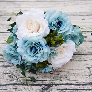 Am-KE-Artificial-Rose-Bouquet-Silk-Fake-Flowers-Wedding-Party-Home-Decoration