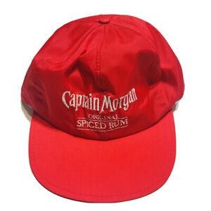 Captain-Morgan-Gorra-Sombrero-Vintage-Gorra-Beisbol-Sombrero-especiadas-RUM-Rojo-de-Nylon