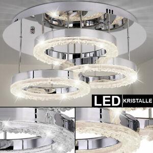 Luxus LED Decken Lampe Schlaf Gäste Zimmer Leuchte Chrom