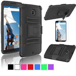 check out 62381 1b3d7 Details about For Motorola Nexus 6 Google Hybrid Combo Rugged Stand Case  Cover Holster Clip