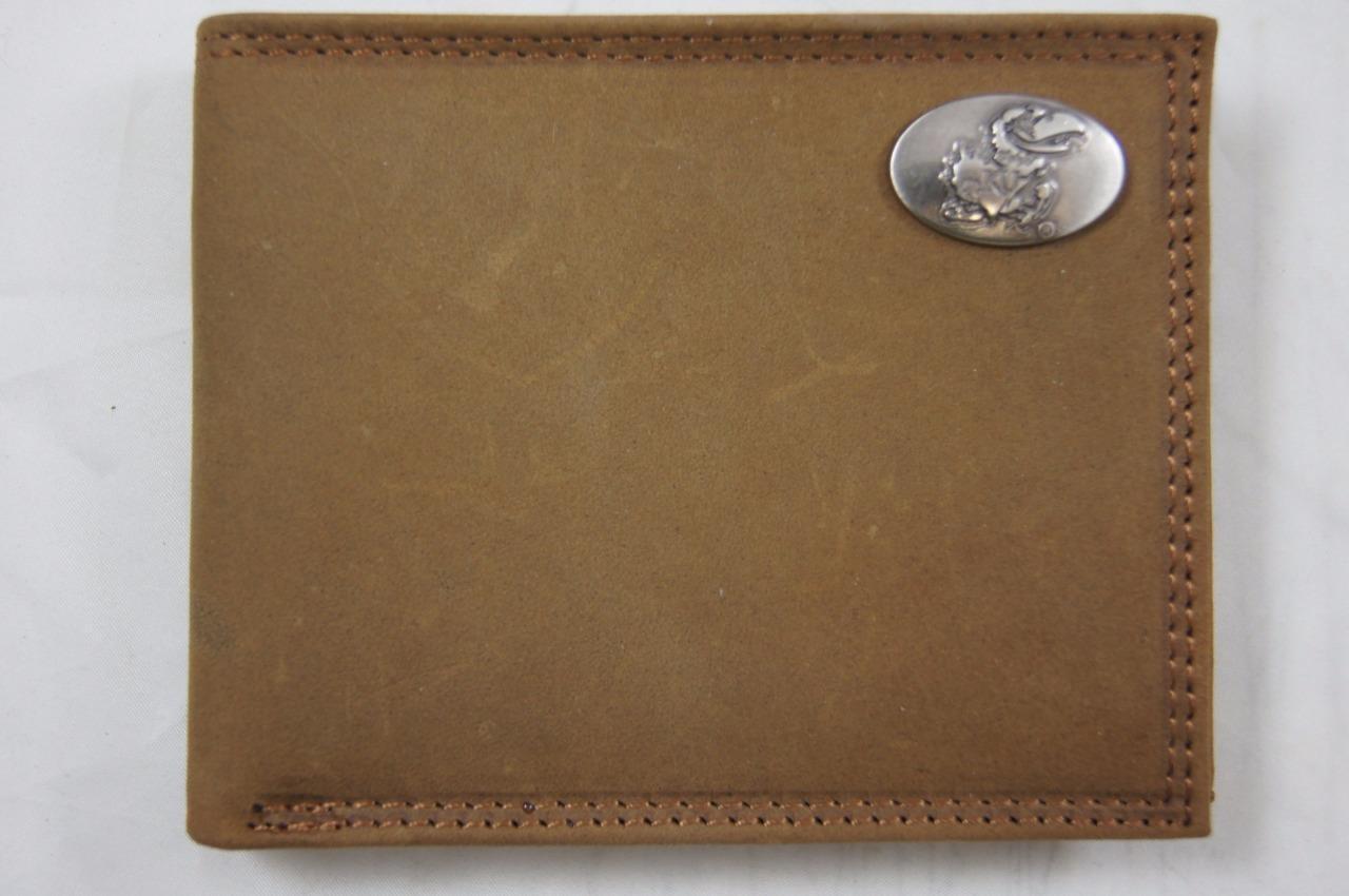 ZEP PRO Kansas Jayhawks Crazy Horse Leather bifold Wallet Tin Gift Box