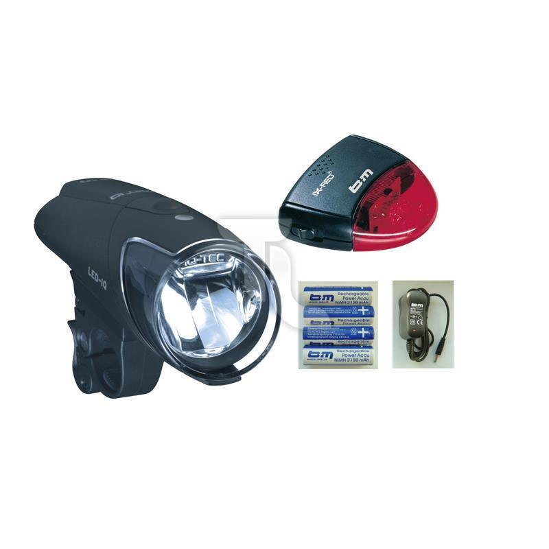 Busch and Muller  B & M Ixon IQ with Charger and Batteries New Bicycle Lamp and IX-R  considerate service