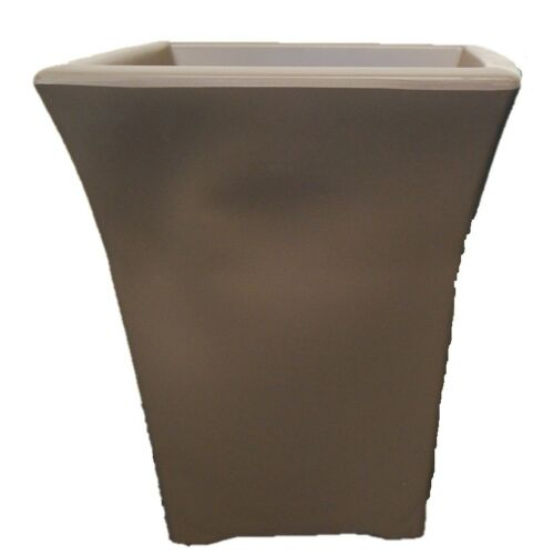 Indoor or Outdoor Plastic Plant Pot In Brown Or Duck 37cm Tall Flared Planter
