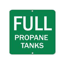 Aluminum Square Metal Sign Multiple Sizes Full Propane Tanks Hazard Flammable