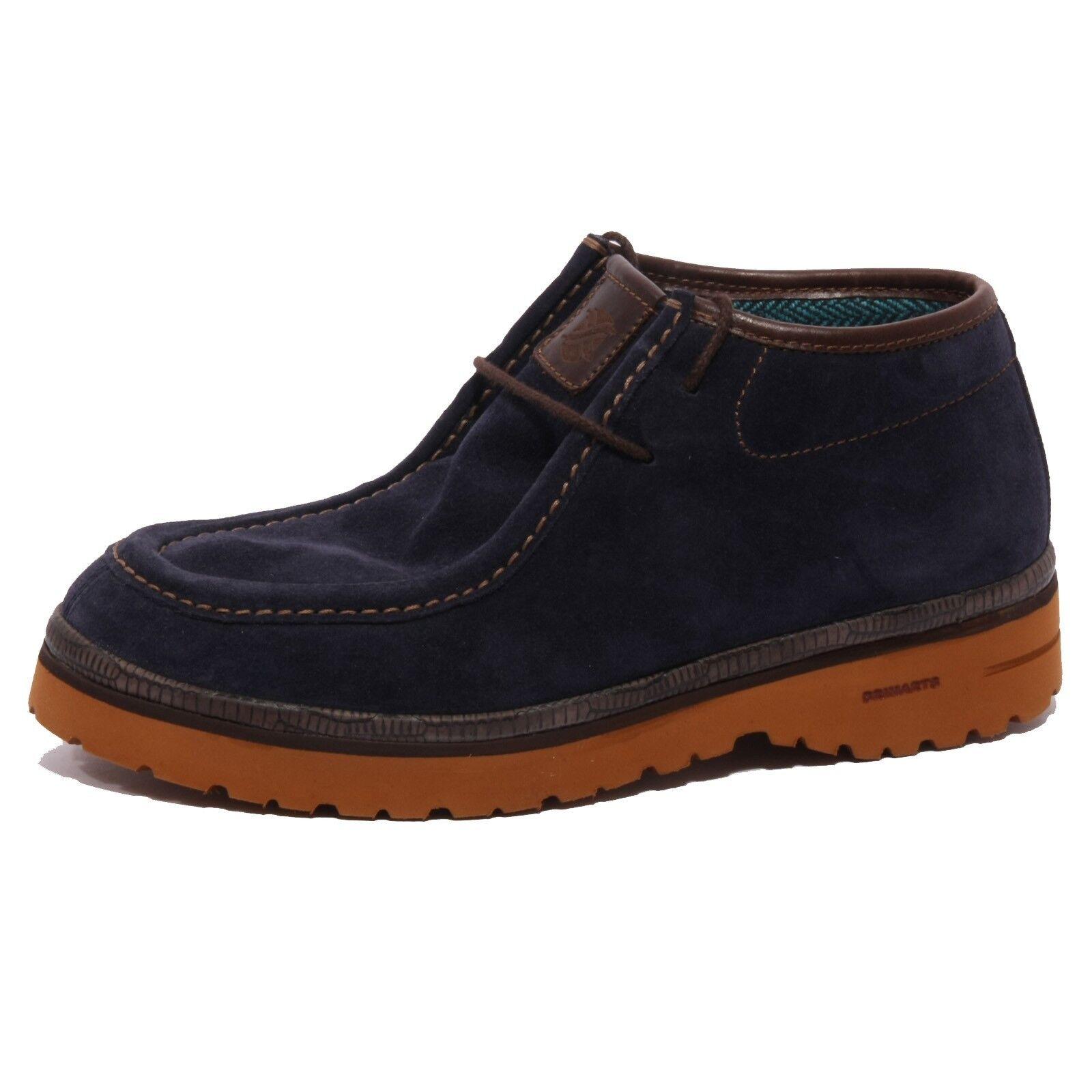 B1347 polacchino uomo BRIMARTS blu scarpa suede shoe men