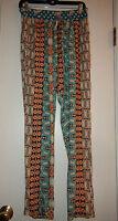 Gypsy05 Gypsy 05 Global Village Mosaic Rayon Pants Sz S Multi Color