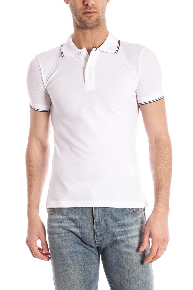 Polo Armani Jeans AJ Polo Shirt EXTRA SLIM FIT Cotone Uomo Bianco 06M30BT 10