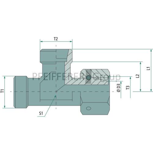 Hydraulik X-ELV einstellbare L-Verschraubung X-ELV 10 L DKO