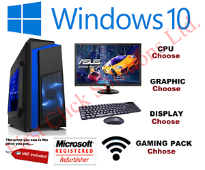 A-buon-mercato-custom-Gaming-PC-Processore-Intel-Core-i7-Win10-GTX1650-16GB-RAM-128GB-SSD-1TB-HDD