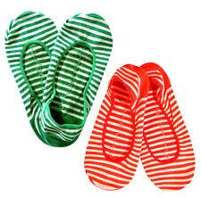 GAP wpmen green orange Stripe no show socks 2 pairs
