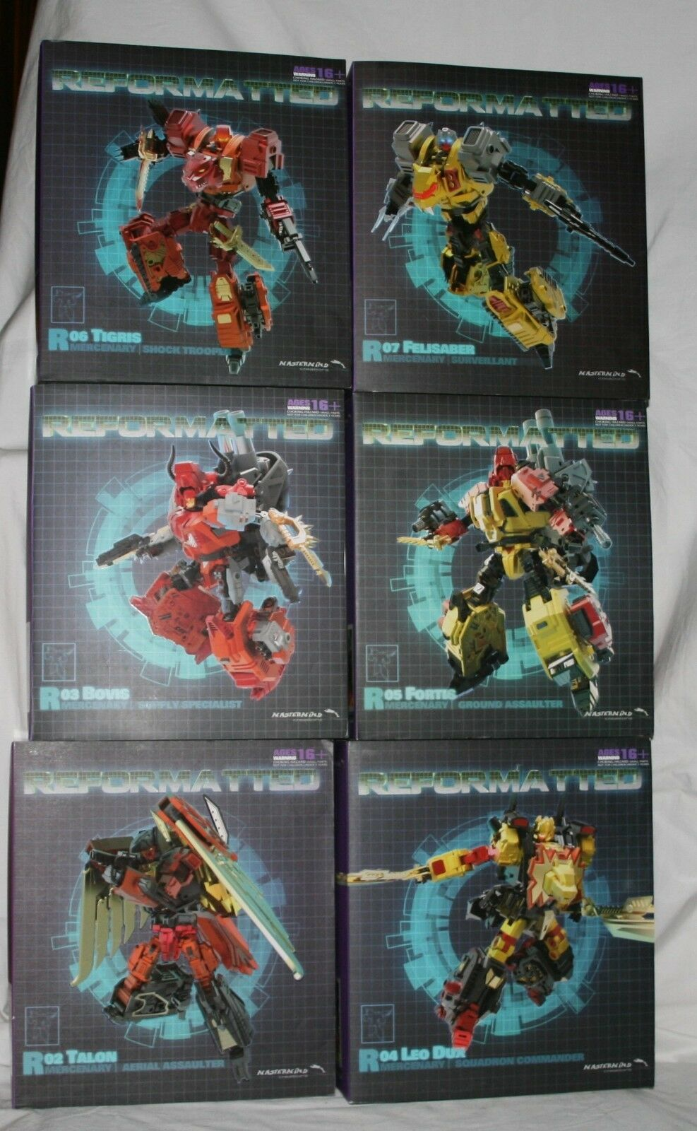 Transformers mastermind creations feral rex misb set