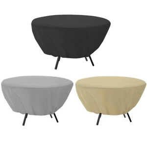 Round-Table-Dust-Cover-Outdoor-Waterproof-Garden-Patio-Furniture-Covers-127-58cm