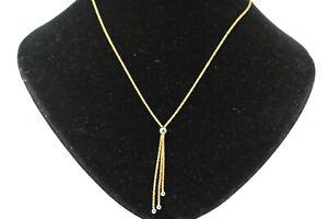 Goldkette 585 Collier 14K Gelbgold Weißgold Länge 43cm Gewicht 3,99g