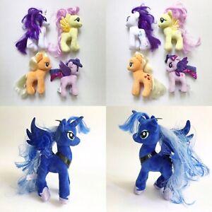 "My Little Pony Lot of 5 Ty / Hasbro Plush 6-8"" Luna Fluttershy Rarity Twilight"